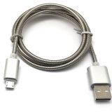 2A cable de datos de acero de alta velocidad del USB del resorte Micro/8pin