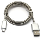 2A câble de caractéristiques en acier à grande vitesse du ressort Micro/8pin USB