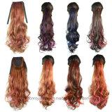 고품질 비용 효과적인 묶인 두 배 색깔은 기온변화도 드리운 머리를 강조한다