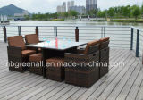 Outdoorのための熱いSale Square Table Dining Set