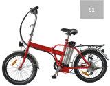 bicicleta eléctrica plegable de 36V 250W con la visualización de LED