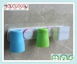 목욕탕 부속품 흡입 컵을%s 가진 잘 고정된 칫솔 홀더