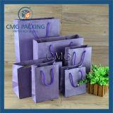 Saco roxo romântico do papel de embalagem Com corda dos PP (DM-GPBB-041)