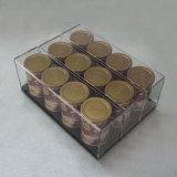 Nuova visualizzazione acrilica acrilica di Plxiglass del caffè del caffè del caffè della scatola di presentazione della casella