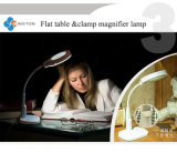 The Table Model에 다중목적 Magnifier LED Magnifying Loupe Glasses Desk Table Reading Lamp Light Ks-1081t Flat 또는 Clamp