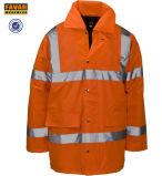 безопасности Оксфорд зимы 300d куртка дождя Bike куртки En471 померанцовой отражательной водоустойчивая
