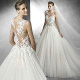 Le modèle spécial voient à travers la robe de mariage sans bretelles de robe de boule d'Étage-Longueur