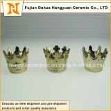 Sale caldo, Small Creative Crown Shape Ceramic Candle Holders (decorazione domestica)