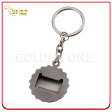 Antique Sliver Plated Beer Cap Metal Bottle Opener Keyring
