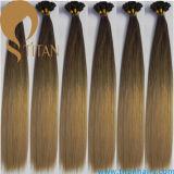 100% Pre скрепленных выдвижений человеческих волос девственницы в цвет Ombre