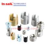 金属のための中国の締める物の製造者のステンレス鋼の通された挿入M3X3.6X6.3mm