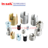 China Fastener Supplier Stainless Steel Threaded Insert M3X3.6X6.3mm para Metal