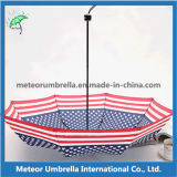 Guarda-chuva da bandeira de América da impressão de cor quatro