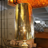 Lámpara de suelo derecha del hierro decorativo de la vendimia con la cortina del PVC