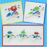 Vechter van het Stuk speelgoed van het Vliegtuig van de Verlichting van de Lijn van de trekkracht de Plastic met Suikergoed