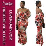 Frau druckte Abend reizvolles Clubwear Kleid (L28056)