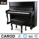 1210mm Height Black Finish Upright Piano avec Bent Leg