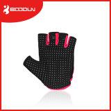 フリップ上が付いているMicrofiberのボディービル指の女の子のCrossfitのスポーツの手袋