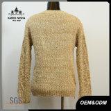 Pullover lavorato a maglia cavo della chiusura lampo di disegno di base delle donne