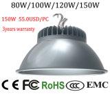 Indicatore luminoso basso industriale della baia dell'indicatore luminoso LED della baia 150W LED del Ce del magazzino approvato di RoHS alto