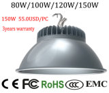 Cer RoHS niedriges Bucht-Licht des anerkanntes 150W LED Lager-industrielles hohes Bucht-Licht-LED