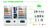 LCD Touch Screen Vending Machine 또는 Snack Beverage Vending Machine Cooling