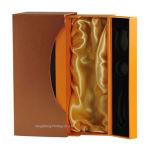 Caja de regalo de papel de oro de la cartulina para el empaquetado del vino