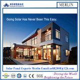 太陽電池パネルの建物(薄膜か太陽電池パネルまたはBIPV)