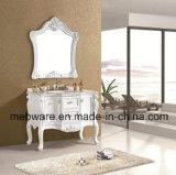 Ретро самомоднейший шкаф ванной комнаты Countertop мрамора смолаы собрания типа