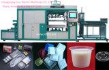 Bandeja plástica de alta velocidad automática llena del alimento con la máquina de Thermoforming del vacío de la tapa PP/PS/Pet