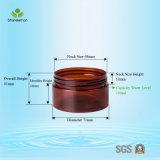 vaso crema di plastica 100ml con la protezione nera per l'imballaggio per alimenti