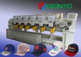 Wonyo 6ヘッド平たい箱及びTシャツの刺繍(WY906C/WY1206C)のための高速帽子の刺繍機械、