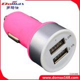 Carregador retrátil geado do carro do USB do telefone de pilha 2 adaptador duplo móvel