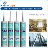 Mastic en verre de construction de silicone d'approvisionnements (Kastar730)