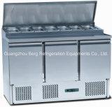Réfrigérateur S903 d'étalage de salade de couverture en verre