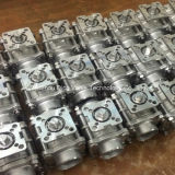 3PC 맞댄 용접 공 벨브 세륨은 설치 패드로 증명했다