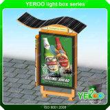 Luz de rua de anúncio psta solar ao ar livre da caixa leve que anuncia a caixa leve