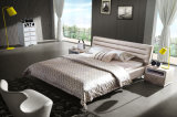 침실 가구 현대 덮개를 씌운 가죽 침대 Hc323