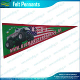 Fanion imprimé de petite taille fait sur commande de feutre de drapeaux de prix bas (M-NF12F13015)