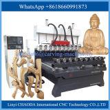 Статуя мебели стула софы делая маршрутизатором CNC машины роторный Multi головной шпиндель