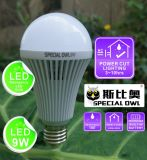 5W 7W 9W 12W Rechargeable Emergency LED Bulb con Backup Battery E27 B22