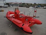Boot van de Rib van de Glasvezel van de Motor van het opvallende Ontwerp de Beste Verkopende