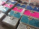 Nueva mariposa del diamante del cuero del tirón para Samsung Galaxy S6