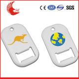 Kundenspezifischer Zink-Legierung Keychain 3D Flaschen-Öffner