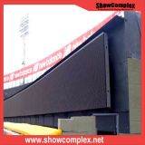 Экран напольный рекламировать афиши P8 СИД алюминиевой изогнутый панелью