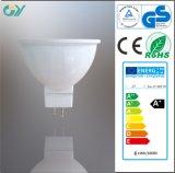 Haute lampe lumineuse de tache de 3000k MR16 6W LED (CE RoHS)