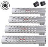 Белый сырцовый алюминиевый рельс Handguard квада Mod Keymod свободно поплавка струбцины ключевой. 223 5.56 Ar-15 Ar15 Ar 15 M4 M16 без анодированной отделки