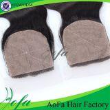 최신 판매 Iidian Virgin 머리 또는 사람의 모발 레이스 마감