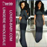 Платье способа черных женщин партии длиннее (L51274)