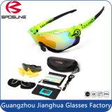 Le modèle 2015 le plus neuf faisant un cycle la lentille 3 interchangeable incassable de lunettes de soleil de sport d'activité en plein air